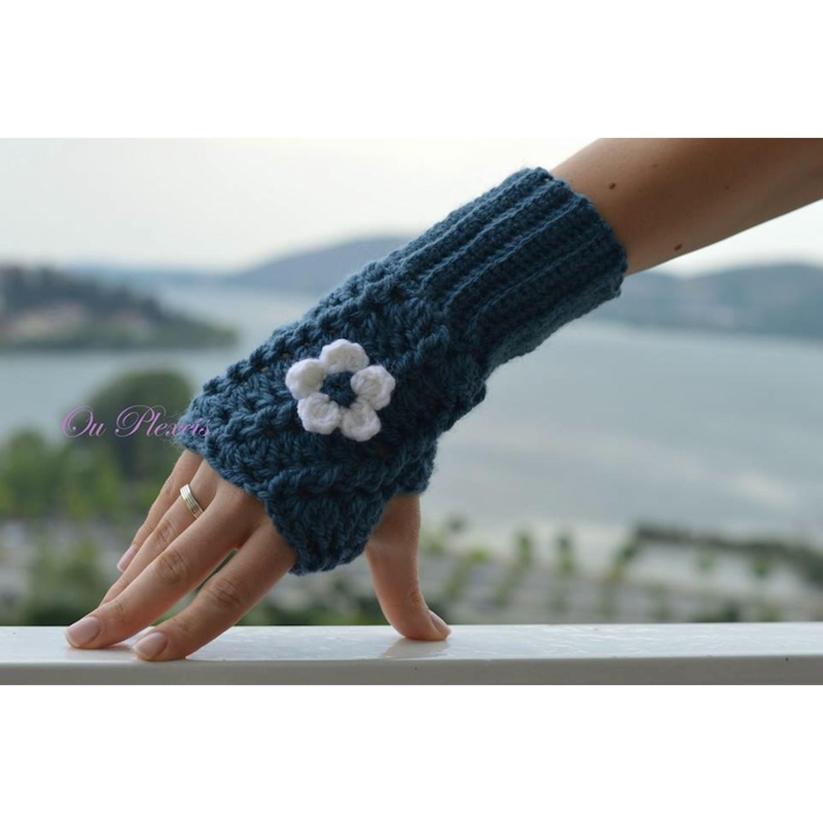 Χειροποίητα πλεκτά γάντια χωρίς δάχτυλα 0e12c69b51a