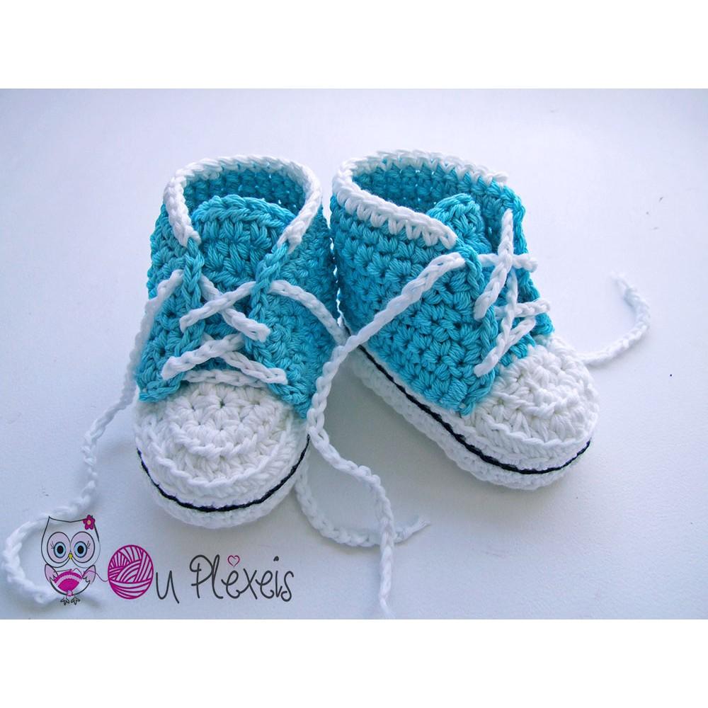 5d865f81e9f Χειροποίητα πλεκτά παπουτσάκια για μωρά
